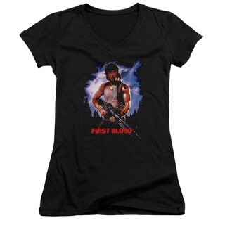 Rambo:First Blood/Poster Junior V-Neck in Black