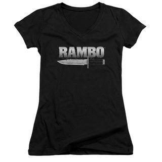 Rambo:First Blood/Knife Junior V-Neck in Black