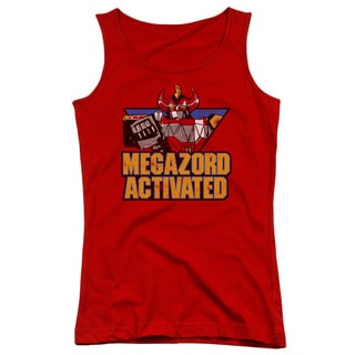 Power Rangers/Megazord Activated Juniors Tank Top in Red