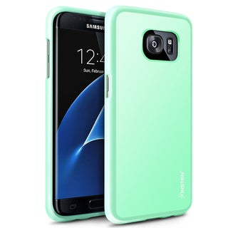 Insten Black/ Mint Green Pudding TPU Rubber Case Cover For Samsung Galaxy S7 Edge