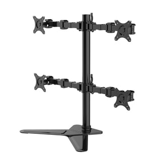 FLEXIMOUNTS DF1Q Full Motion Quad Arm Free Standing Desk Mount Monitor Stand For 10-30 inch Asus Acer AOC LCD Computer Monitor