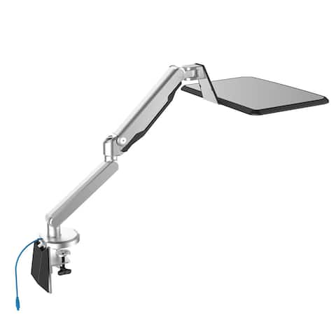 Loctek Sit/Stand Workstation Height Adjustable Laptop Mount Arm Stand With USB Port for 10-inch - 17-inch Notebook