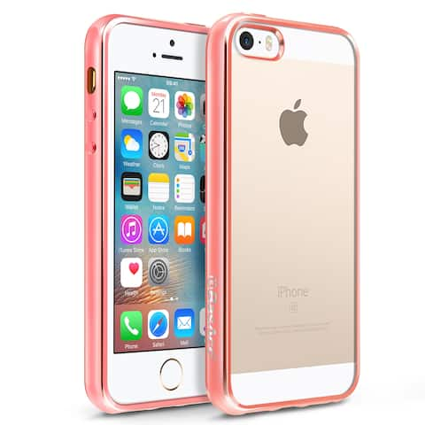 BasAcc HD Clear TPU Rubber Case with Chrome Edge For Apple iPhone 5/ 5S/ SE