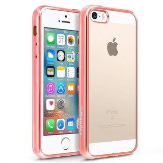 BasAcc HD Clear TPU Rubber Case with Chrome Edge For Apple iPhone 5/ 5S/ SE (Option: Clear)