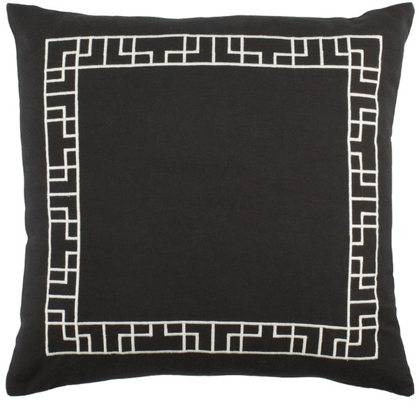 Decorative 18-inch Brook Down/Poly Filled Throw Pillow