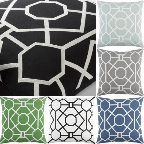 Decorative 18-inch Beach Throw Pillow Shell