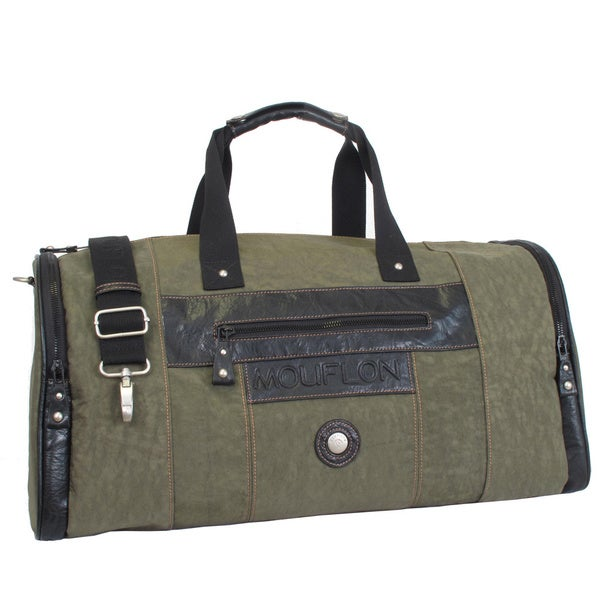 1233c5b6f2e4 Mouflon Feathers Multicolor Nylon Synthetic Leather 21-inch Carry-on Duffel  Bag