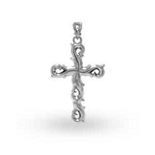 Handmade .925 Sterling Silver Wandering Vine Cross Pendant (Indonesia)