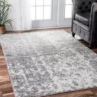 nuLOOM Contemporary Granite Mist Shades Grey Rug (7'6 x 9'6) (As Is Item)