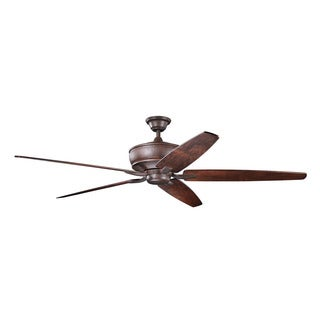 Kichler Lighting Monarch Collection 70-inch Tannery Bronze Ceiling Fan
