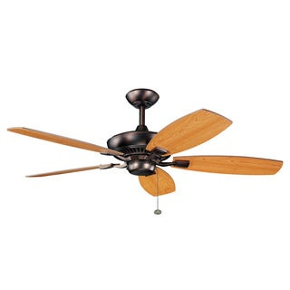 Kichler Lighting Canfield Collection 52-inch Oil Brushed Bronze Ceiling Fan