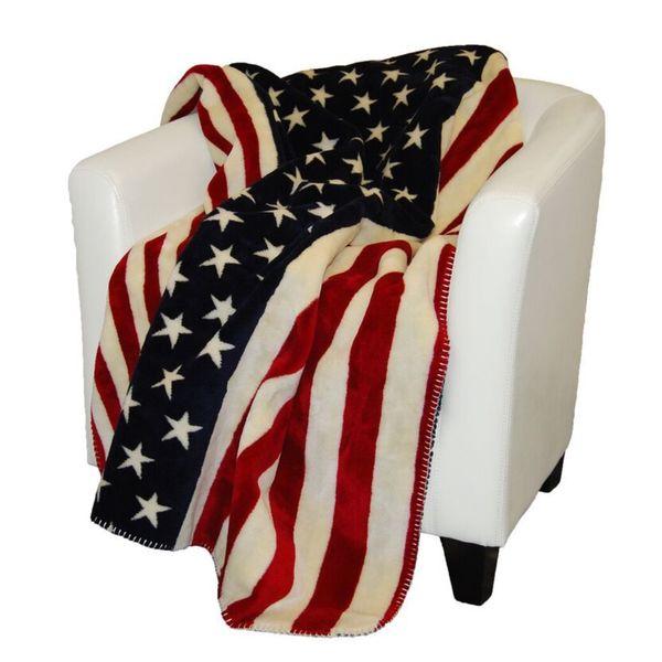 Denali Red/ White and Blue Lapis Throw Blanket