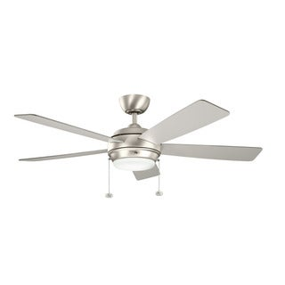Kichler Lighting Starkk Collection 52-inch Brushed Nickel Ceiling Fan w/Light - Silver