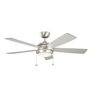 Kichler Lighting Starkk Collection 52-inch Brushed Nickel Ceiling Fan w/Light