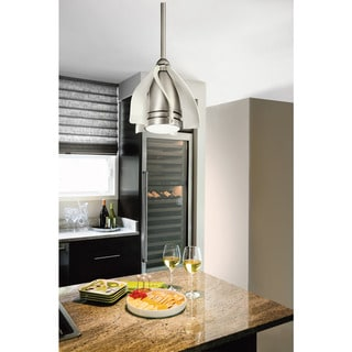 Kichler Lighting Terna Collection 15-inch Brushed Nickel Ceiling Fan w/LED Light