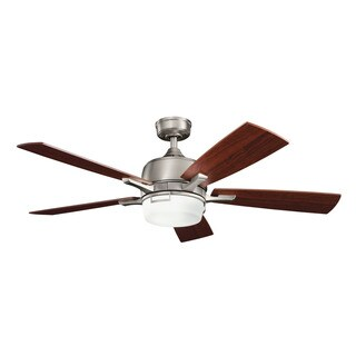 Kichler Lighting Leeds Collection 52-inch Antique Pewter Ceiling Fan w/Light