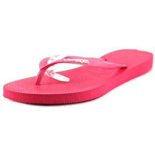 Havaianas Women's Pink Rubber Slim Logo Pop-Up Sandals