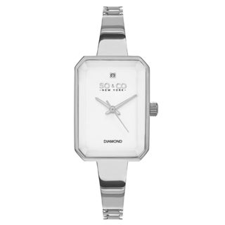 SO&CO New York Women's Madison Stainless Steel Quartz Diamond Bracelet Watch