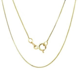 10k Yellow Gold Classic Box Link Necklace