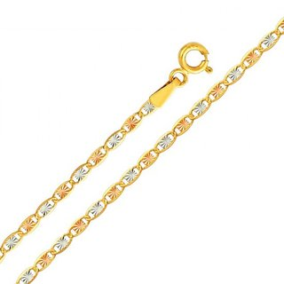 14k Tri-color Gold Valentiono Necklace