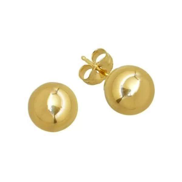 Small 10k 14k ROSE GOLD Ball Studs Minimalist Solid Rose Gold Ball Earrings Dainty Round Rose Gold Earrings on 10k or 14k Posts /& Backs.