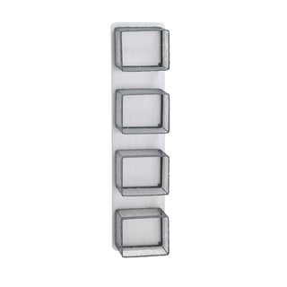 Metal and Wood 9-inch x 5-inch x 40-inch Contemporary Wall Rack