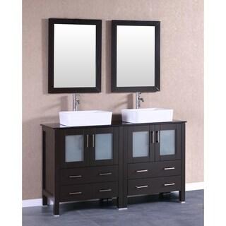 60-inch Bosconi AB230RCBG Double Vanity