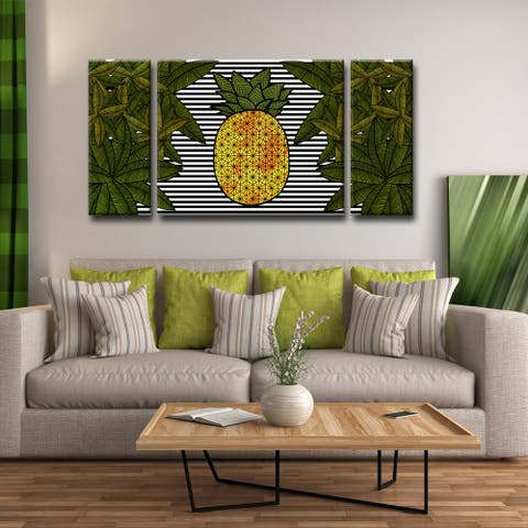 Ready2HangArt 'Pineapple Trail' 3-PC Wrapped Canvas Art Set