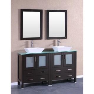 60-inch Bosconi AB230SQCWG Double Vanity