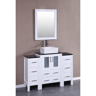 Bosconi AW124CBEBG2S 48-inch Single Vanity with Mirror and Faucet