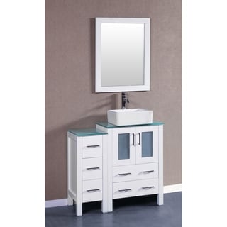 Bosconi 36-inch AW124CBECWG1S Single Vanity with Mirrors, and Faucets