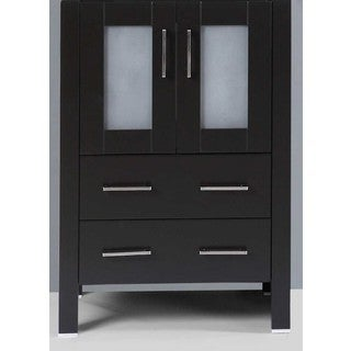 "24"" A-B-24MC Black Single Vanity Cabinet"