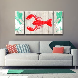 Ready2HangArt 'Lobster Red' 3-PC Wrapped Canvas Art Set