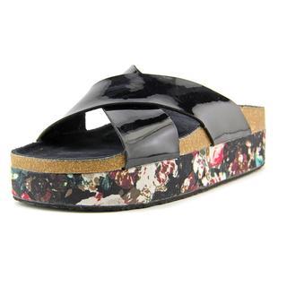 Qupid Women's Adobie Black Polyurethane Platform Sandals