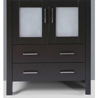 "30"" A-B-30MC Black Single Vanity Cabinet"