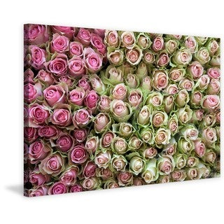Marmont Hill - Roses in Pink Print on Canvas