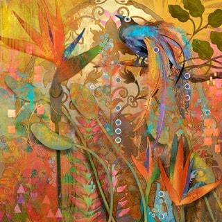 Marmont Hill - Handmade Blue Bird of Paradise Print on Canvas