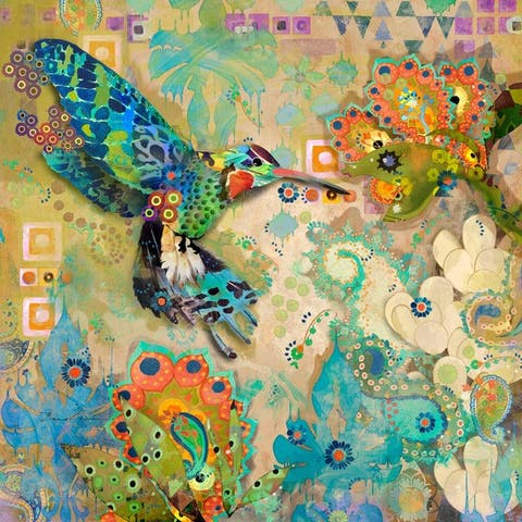 Marmont Hill - Handmade Hummingbirds Print on Canvas