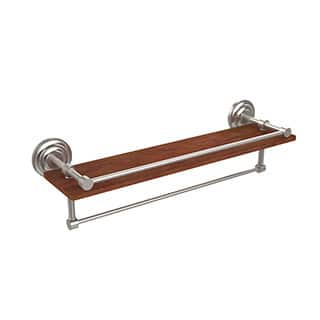 Allied Brass Collection Black, Brass, Bronze, Chrome, Copper, Nickel Brass, Wood 22-inch Shelf With Gallery Rail and Towel Bar|https://ak1.ostkcdn.com/images/products/11896188/P18790748.jpg?impolicy=medium
