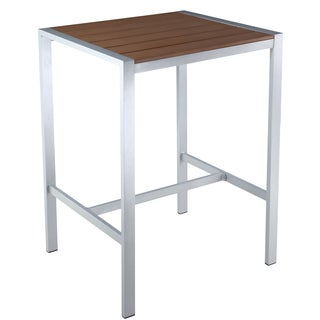 Cortesi Home Lola Brown Outdoor Bar Table