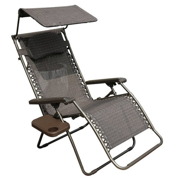 Exceptionnel Abba Patio Oversized Zero Gravity Recliner Patio Lounge Chair With Sunshade  And Drink Tray