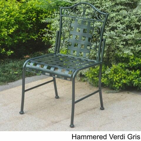 International Caravan Mandalay Iron Patio Bistro Chairs (Set of 2)
