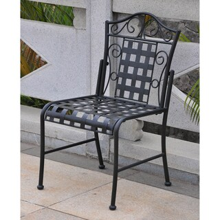 International Caravan Mandalay Iron Patio Bistro Chairs (Set of 2) (4 options available)