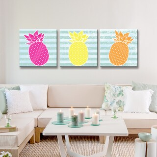 Ready2HangArt 'Starburst Pineapple III' 3-PC Wrapped Canvas Art Set (2 options available)