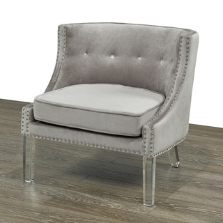 Linette Grey Velvet Chair