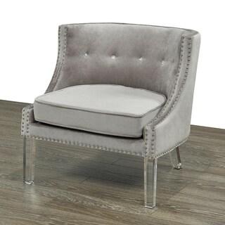 Velvet Upholstered Acrylic Dining Room Chair