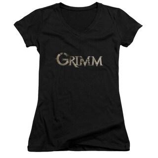 Grimm/Logo Junior V-Neck in Black