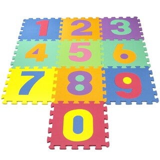 Matney Multi-color Foam Large Number Puzzle Mat