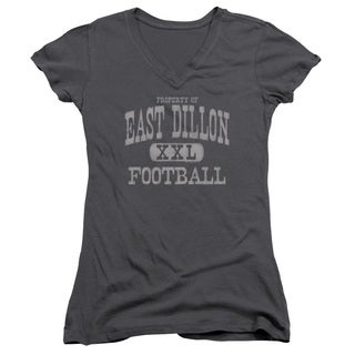 Friday Night Lights/Property Of Junior V-Neck in Charcoal