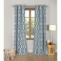 Ashmond Blue Textured 96-inch Grommet Curtain Panel Pair